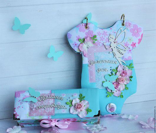 Подарки для новорожденных, ручной работы. Ярмарка Мастеров - ручная работа. Купить Подарочный набор для маленькой феи. Handmade. Фотоальбом