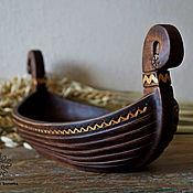 Посуда handmade. Livemaster - original item Vase wooden Boat. Handmade.