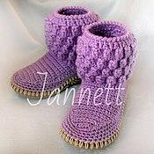 Обувь ручной работы. Ярмарка Мастеров - ручная работа Вязаные сапожки детские. Handmade.