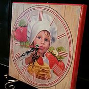 Для дома и интерьера handmade. Livemaster - original item wall clock little chef. Handmade.
