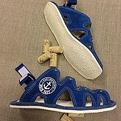 """Обувь ручной работы. Ярмарка Мастеров - ручная работа Замшевые сандалии """" Парус"""". Handmade."""