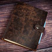 Канцелярские товары handmade. Livemaster - original item Leather notebook on rings A5 REMBRANDT. Handmade.