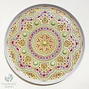 """Тарелки ручной работы. Ярмарка Мастеров - ручная работа """"Звезда Востока"""" тарелка настенная в узбекском стиле. Handmade."""
