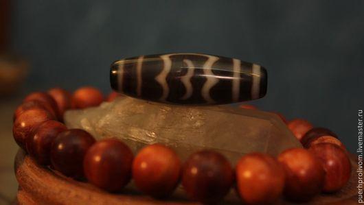 """Для украшений ручной работы. Ярмарка Мастеров - ручная работа. Купить Тибетская бусина Дзи (Зи) """"Гаруда"""". Handmade. любовь"""