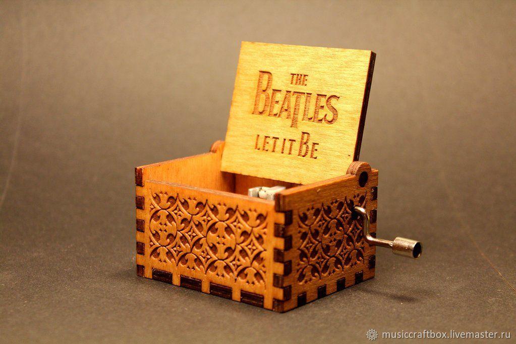 Beige music box Let it be the Beatles song hurdy gurdy, Musical Souvenirs, Krasnodar,  Фото №1