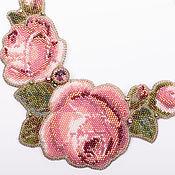 """Украшения ручной работы. Ярмарка Мастеров - ручная работа Колье """"Розы"""". Handmade."""