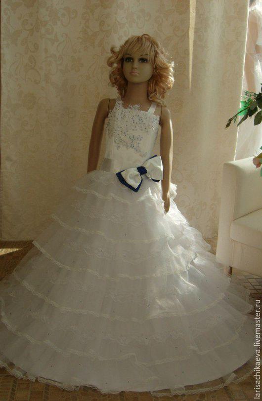 Одежда для девочек, ручной работы. Ярмарка Мастеров - ручная работа. Купить детское нарядное платье. Handmade. Белое платье