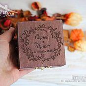 Свадебный салон handmade. Livemaster - original item Wooden wedding ring box. Handmade.