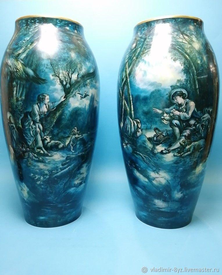 Фарфоровая мануфактура Limoges. Парные вазы, Вазы, Москва,  Фото №1