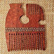 """Сувениры и подарки handmade. Livemaster - original item Comb real wood inlay """"Northern Bird"""" of wood. Handmade."""