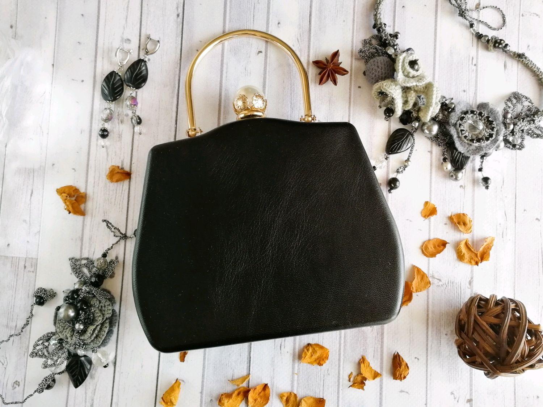 440b5ba8dac1 Женские сумки ручной работы. Ярмарка Мастеров - ручная работа. Купить  Чёрный клатч из натуральной ...