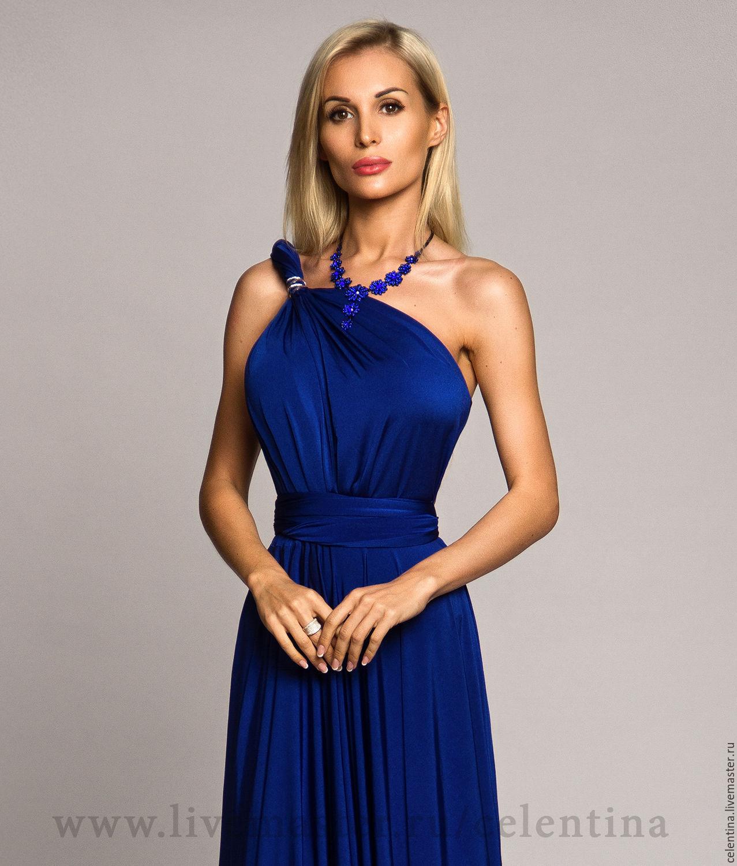 Синие вечерние платья на свадьбу
