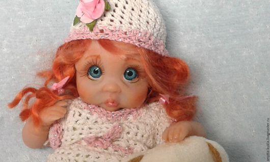 Коллекционные куклы ручной работы. Ярмарка Мастеров - ручная работа. Купить .......Буська....... Handmade. Бежевый, куколка, сувениры и подарки, мохер