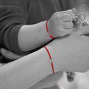 Украшения handmade. Livemaster - original item Twin bracelets for mothers and daughters - Hearts. Handmade.