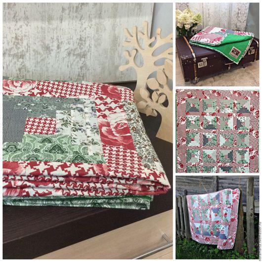 Лоскутное одеяло Ручная работа Пэчворк Лоскутное шитье Пледы и одеяла ручной работы Ярмарка мастеров