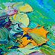 """Пейзаж ручной работы. Картина """"Окно в Средиземноморье"""" (холст, масло). ЯРКИЕ КАРТИНЫ Наталии Ширяевой. Ярмарка Мастеров. Синий"""