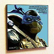 Сувениры и подарки handmade. Livemaster - original item Leonardo teenage mutant ninja Turtles in the style of Pop Art. Handmade.