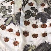 """Аксессуары ручной работы. Ярмарка Мастеров - ручная работа Шелковый шарф """"Композиция"""". Натуральный шелк.. Handmade."""
