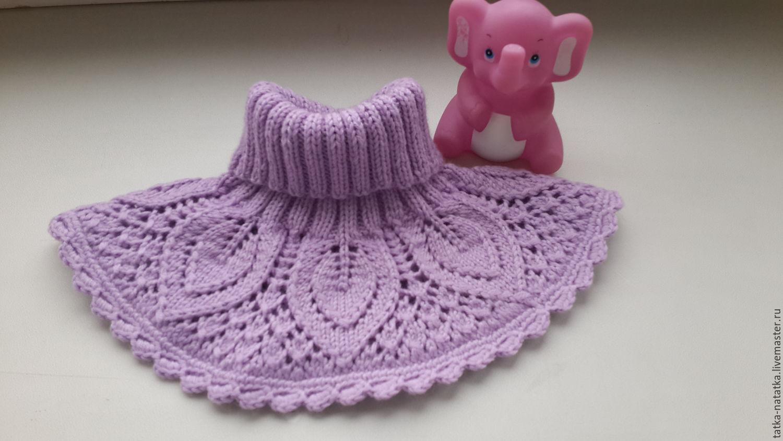 Вязание крючком манишка для девочки