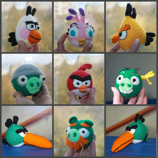 Игрушки животные, ручной работы. Ярмарка Мастеров - ручная работа. Купить Angry Birds. Handmade. Angry birds, красная птичка
