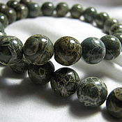 Материалы для творчества handmade. Livemaster - original item Jasper breccia green 10mm smooth ball. Handmade.