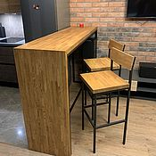 Столы ручной работы. Ярмарка Мастеров - ручная работа Барный стол, стойка  массив Дуба. Handmade.