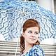 Зонты ручной работы. Ярмарка Мастеров - ручная работа. Купить Вязаный зонт. Handmade. Тёмно-синий, зонт на заказ