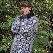 Одежда handmade. Livemaster - original item Large puffer sweater Snowflakes.. Handmade.