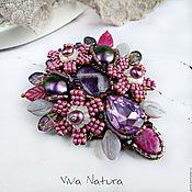 """Украшения handmade. Livemaster - original item Brooch """"Lavender and rose"""". Handmade."""