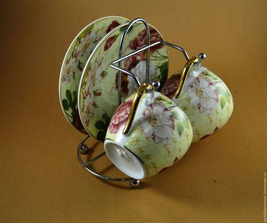 Сервизы, чайные пары ручной работы. Ярмарка Мастеров - ручная работа. Купить Красивый фарфоровый чайный набор, Япония. Handmade.