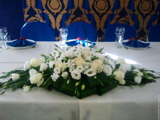 Свадебные цветы ручной работы. Ярмарка Мастеров - ручная работа. Купить свадебная композиция. Handmade. Белый, свадьба, интерьерная композиция