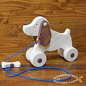 Куклы и игрушки handmade. Livemaster - original item Dog-gurney with a bone. For the little ones.. Handmade.