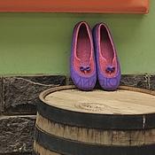 """Обувь ручной работы. Ярмарка Мастеров - ручная работа """"Ягодное искушение""""  валяные тапочки-балетки. Handmade."""