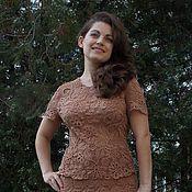 """Одежда ручной работы. Ярмарка Мастеров - ручная работа Костюм """"Леди"""", костюм женский деловой, летнее платье, вязаное платье. Handmade."""