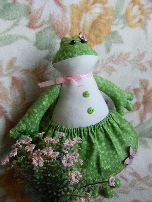 Куклы Тильды ручной работы. Ярмарка Мастеров - ручная работа. Купить Милая девочка. Handmade. Лягушка, интерьерная, кружево
