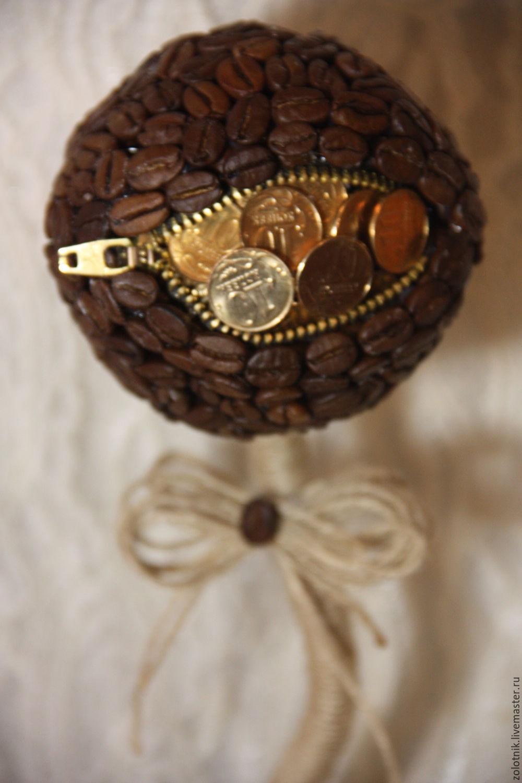 Топиарий из монеток своими руками мастер класс