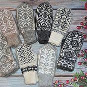 Аксессуары handmade. Livemaster - original item Mittens: Wool mittens fluff. Handmade.
