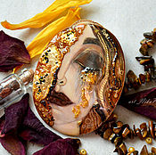 """Подвеска ручной работы. Ярмарка Мастеров - ручная работа """"Золотые слезы"""" (кулон). Handmade."""