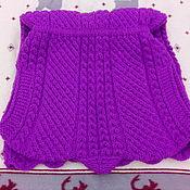 """Одежда ручной работы. Ярмарка Мастеров - ручная работа Длинный шерстяной жилет """"Фиолет"""". Handmade."""
