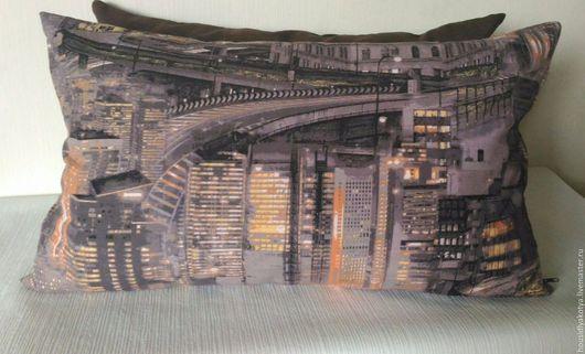 Текстиль, ковры ручной работы. диванная подушка. HOUSы для котяусов. Интернет-магазин Ярмарка Мастеров. Подушка декоративная, подушка, для детской