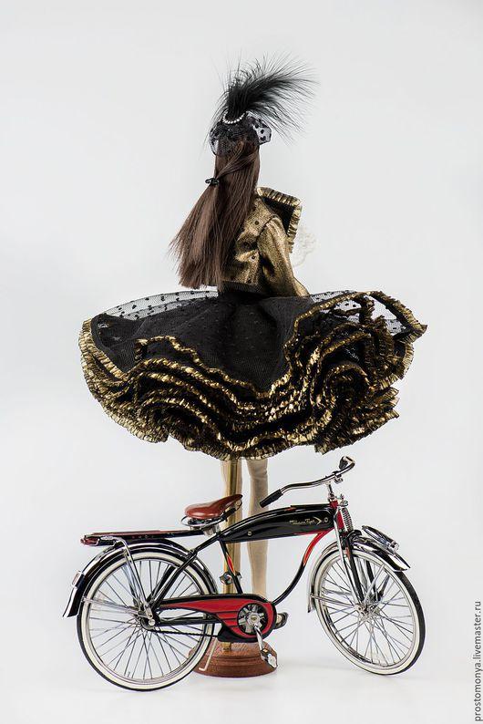 Коллекционные куклы ручной работы. Ярмарка Мастеров - ручная работа. Купить Моня в образе Марлен Дитрих. Handmade. Черный