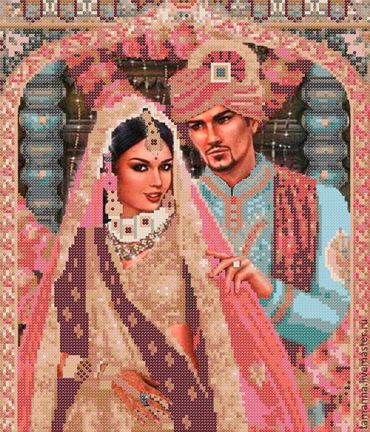Люди, ручной работы. Ярмарка Мастеров - ручная работа. Купить Индийская пара. Схема для вышивки бисером. Handmade. Комбинированный, люди