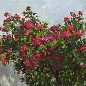 Картины и панно handmade. Livemaster - original item Red roses Original oil painting. Handmade.