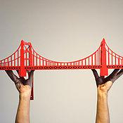 """Для дома и интерьера ручной работы. Ярмарка Мастеров - ручная работа Полка-мост """"Золотые Ворота"""" (Golden Gate Bridge) 79x18 см. Handmade."""