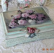 Для дома и интерьера handmade. Livemaster - original item The box of wood of pine Peonies, burning brush. Handmade.