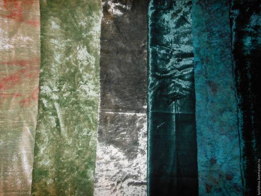 Шитье ручной работы. Ярмарка Мастеров - ручная работа. Купить Плюш винтажный зеленый. Handmade. Зеленый, плюш винтажный