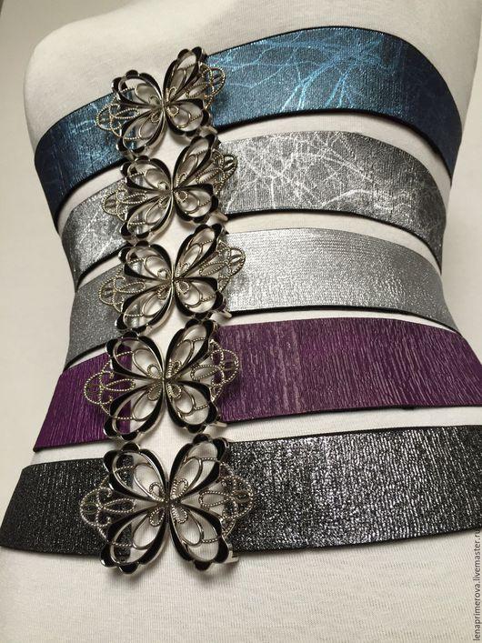 Пояса, ремни ручной работы. Ярмарка Мастеров - ручная работа. Купить любые пояса резинки стрейч на выбор, пряжки разные, расцветки. Handmade.