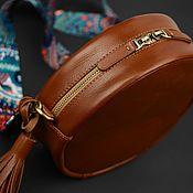 Сумки и аксессуары handmade. Livemaster - original item Leather drum bag. Handmade.