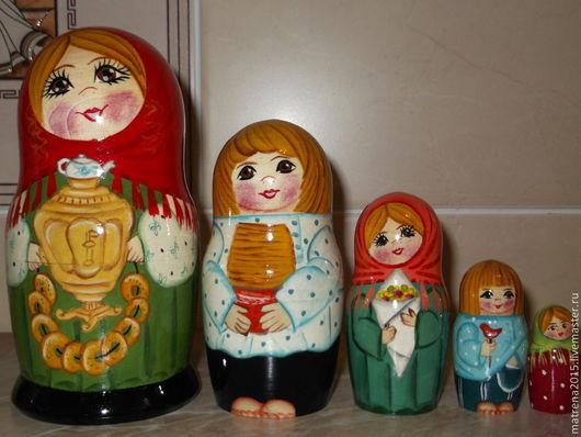 Развивающие игрушки ручной работы. Ярмарка Мастеров - ручная работа. Купить матрешка ''МАСЛЕНИЦА'' 5 кукол Ярмарка мастеров-ручная работа matrena2. Handmade.