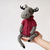 Куклы и игрушки handmade. Livemaster - original item Knitted interior toy in the style of Teddy Moose Valery. Handmade.